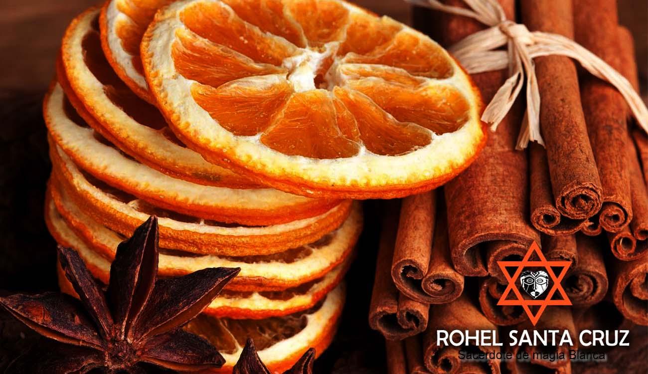 canela y naranja para el dinero